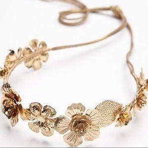 free people own the night metal floral crown